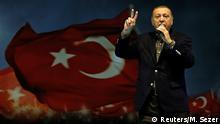 5.3.2017*** Turkish President Tayyip Erdogan makes a speech during a Women's Day rally in Istanbul, Turkey, March 5, 2017. REUTERS/Murad Sezer