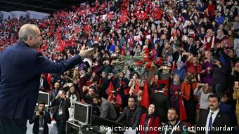 Эрдоган на митинге в Стамбуле 5 марта