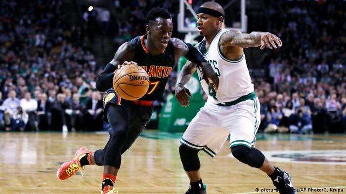 USA NBA-Basketballer Dennis Schröder (picture-alliance/AP Photo/C. Krupa)