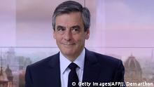 Frankreich Francois Fillon im TV-Interview in Paris
