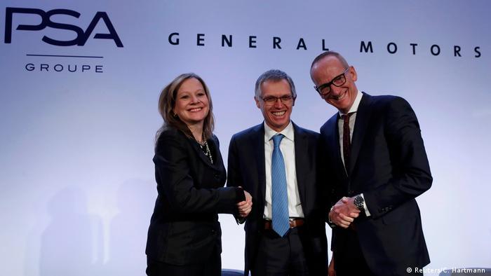 Frankreich PK PSA, General Motors und Opel (Reuters/C. Hartmann )