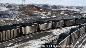 Поезд с углем в США, фото из архива