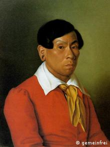 Em aquarela, datada de 1830, Karl zu Wied-Neuwied, irmão do viajante, retrata Kuêk na Alemanha