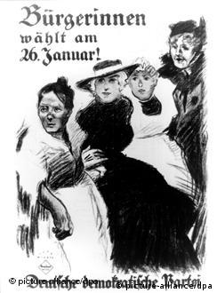 Em 1919, as mulheres puderam pela primeira vez ir às urnas