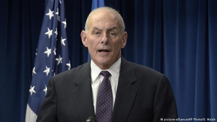 As Homeland Security Secretary, John Kelly makes a statement on issues related to visas and travel.