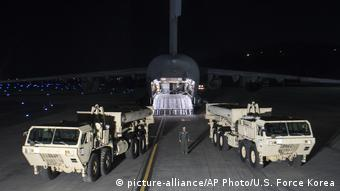 Südkorea US-Raketenabwehrsystem THAAD (picture-alliance/AP Photo/U.S. Force Korea)