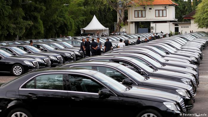 Indonesien Bali - Vorbereitungen für Anreise von König Salman