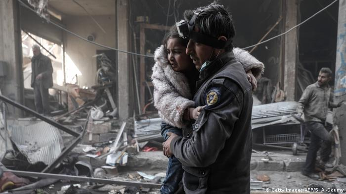 Syrien - Kinder im Krieg (Getty Images/AFP/S. Al-Doumy)