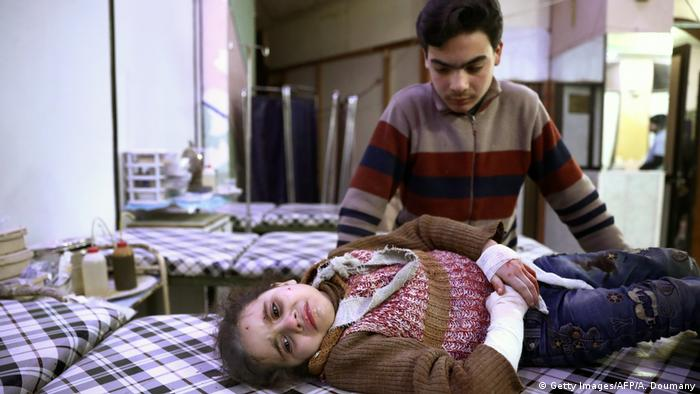 Syrien - Kinder im Krieg (Getty Images/AFP/A. Doumany)