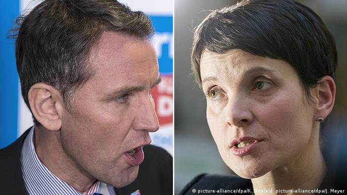 Kombibild: Björn Höcke und Frauke Petry (picture-alliance/dpa/K. Nitefeld picture-alliance/dpa/J. Meyer)