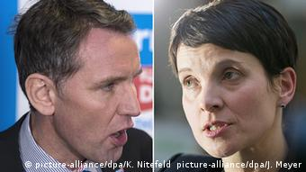 Björn Höcke and Frauke Petry (picture-alliance/dpa/K. Nitefeld picture-alliance/dpa/J. Meyer)