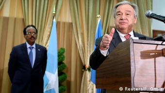 Somalia Mogadischu - U.N. Generalsekretär Antonio Guterres bei Pressekonferenz