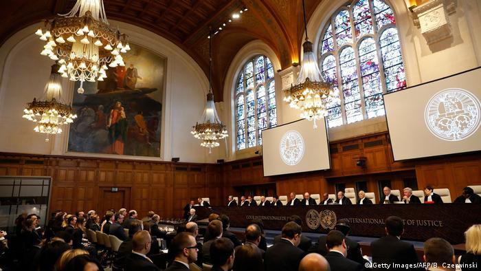 На слушаниях по иску Украины против России в суде ООН в Гааге в марте 2017 года