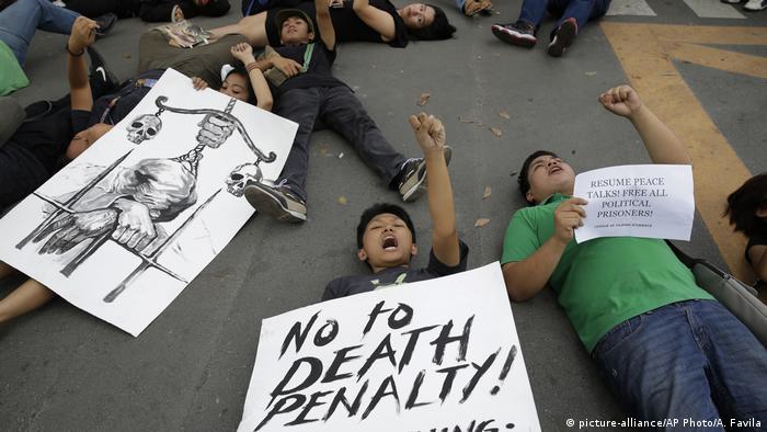 Philippinen Gesetz Wiedereinführung Todesstrafe | Protest in Manila