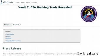 Screenshot Vault 7 CIA Hacking Tools Revealed