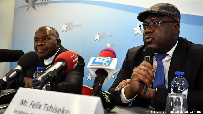 Brüssel Gerard Mulumba & Felix Tshisekedi PK zu Tod von Etienne Tshisekedi
