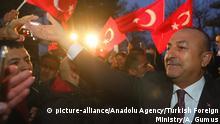 Deutschland türkischer Außenminister Mevlüt Cavusoglu in Hamburg
