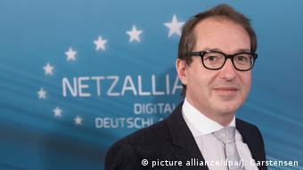 Deutschland Pressekonferenz zu Plänen für schnelles Internet   Bundesinfrastrukturminister Alexander Dobrindt