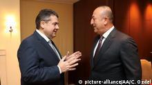 Deutschland Treffen Gabriel und Cavusoglu