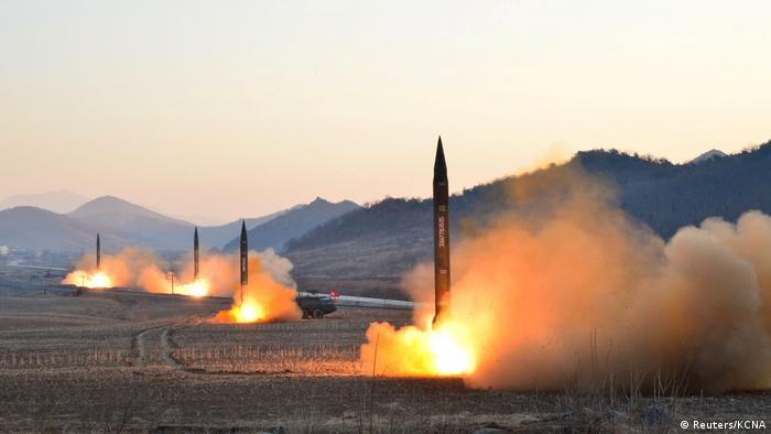 Nordkorea Raketentest bei Hwasong