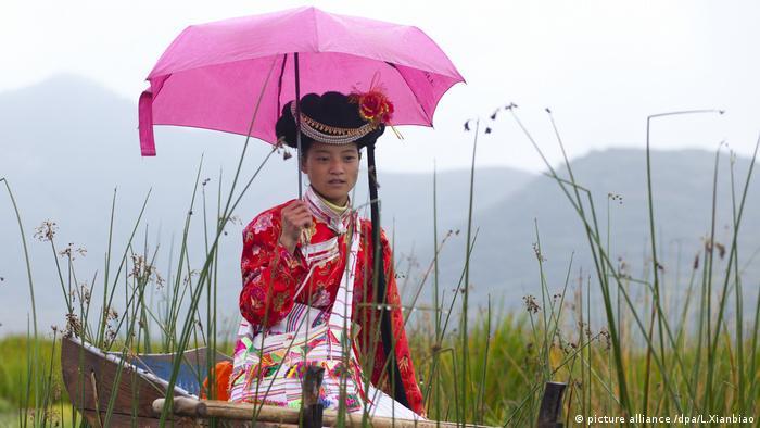 Mosuo Frau China (picture alliance /dpa/L.Xianbiao)