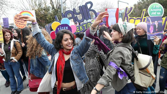 Internationaler Frauentag in Ankara (Getty Images/AFP/A. Altan)