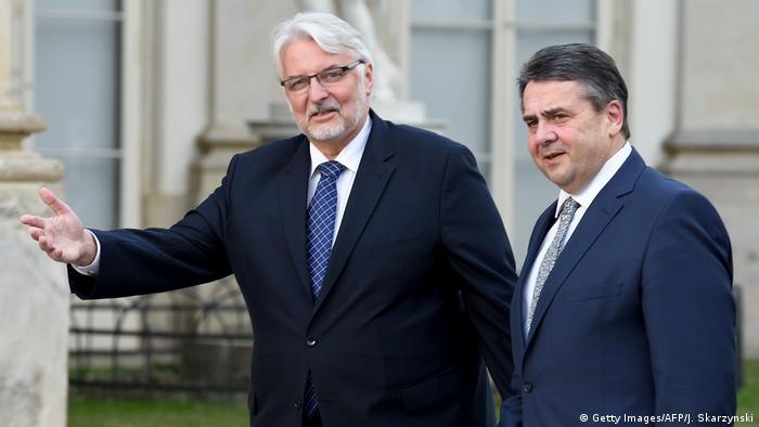 Polen Deutschland, Außenminister Witold Waszczykowski & Sigmar Gabriel in Warschau