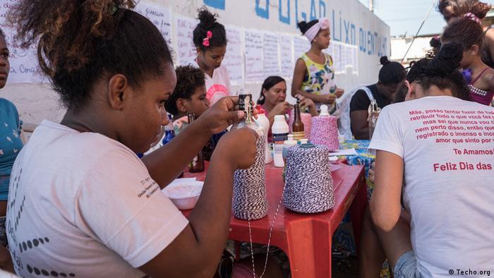 Grupo de mujeres en Brasil.