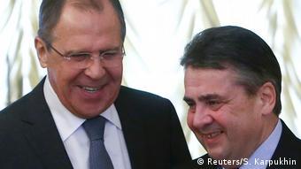 Russland Deutschland Gabriel bei Lawrow in Moskau