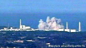 Video still of nuclear plant explosion at Fukushima (picture alliance/dpa/Abc Tv)