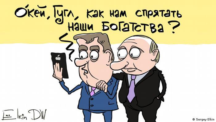 Karikatur von Sergey Elkin - Russland und Korruption
