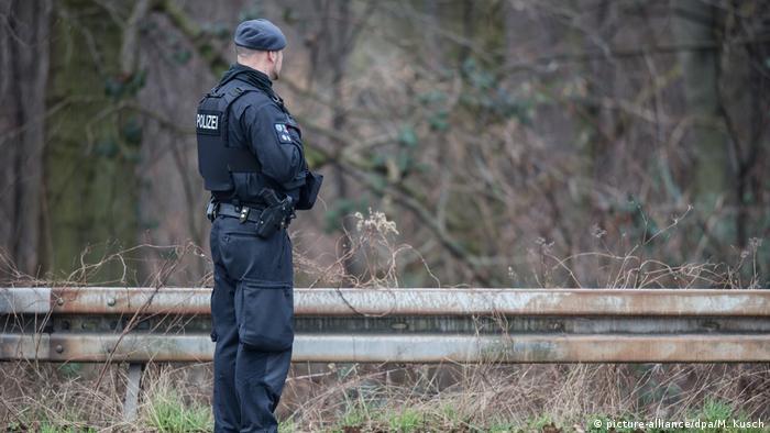 Armed police officer in Herne
