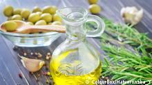 Stock Foto Olivenöl