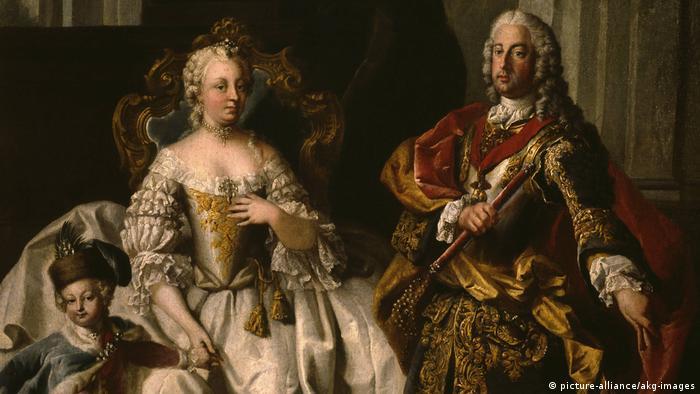Императрица Мария Терезия с супругом и наследным принцем
