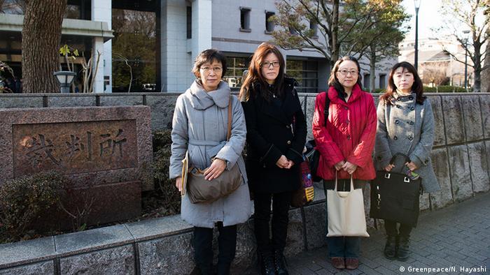 Japan | Fukushima | Evakuierte Mütter ziehen vor Gericht (Greenpeace/N. Hayashi)