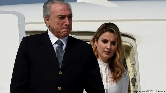 Brasilien Präsident Michel Temer mit seiner Frau Marcela Temer (Getty Images/AFP/M. Sharma)