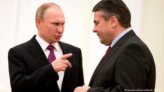Russland Antrittsbesuch von Außenminister Gabriel bei Putin