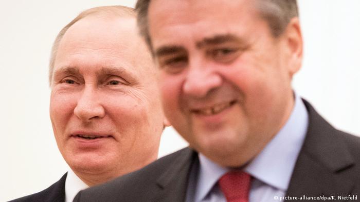 Глава МИД ФРГ рассказал какие темы затрагивались на ужине с  Владимир Путин и Зигмар Габриэль