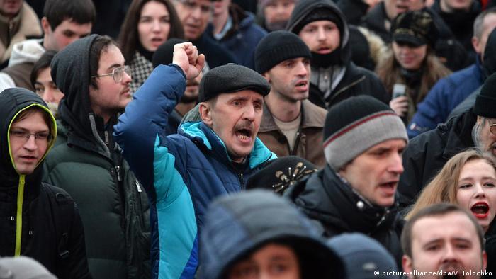 Weißrussland Protest gegen Steuer für Arbeitslose