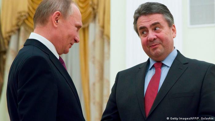 Владимир Путин и Зигмар Габриэль