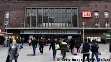 An outside view of Duesseldorf´s main train station taken on January 20, 2016 in Duesseldorf. / AFP / PATRIK STOLLARZ (Photo credit should read PATRIK STOLLARZ/AFP/Getty Images)