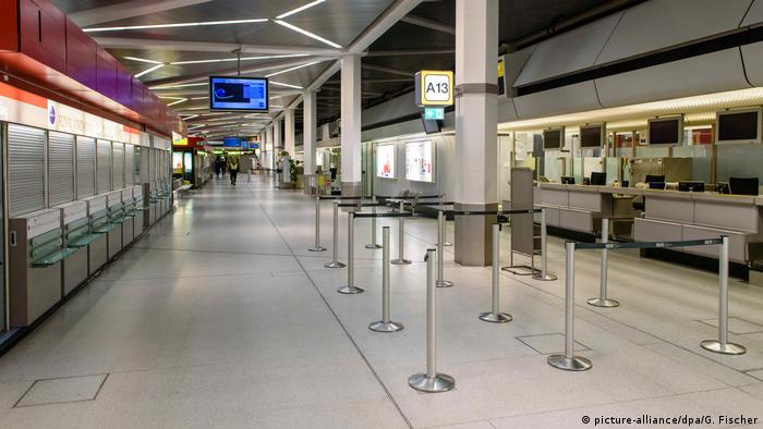 Empty check-in hall at Berlin airports