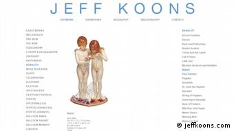 The sculpture Naked on Jeff Koons website (jeffkoons.com)