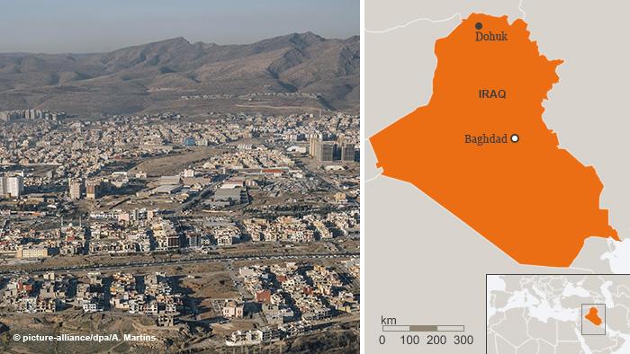 Kombo Foto Karte Dohuk Irak ENG