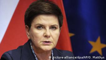 Beata Szydlo in Brussels (picture-alliance/dpa/AP/O. Matthys)