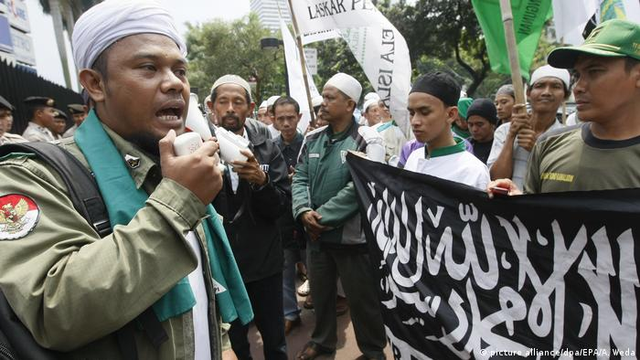 Islamic protest in Jakarta (picture alliance/dpa/EPA/A. Weda)