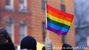 LGBT flag in New York (picture alliance/R.K.Chin)