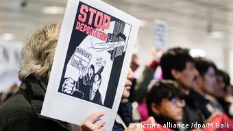 Demonstration gegen Abschiebung von Flüchtlingen Maghreb Staaten Demo