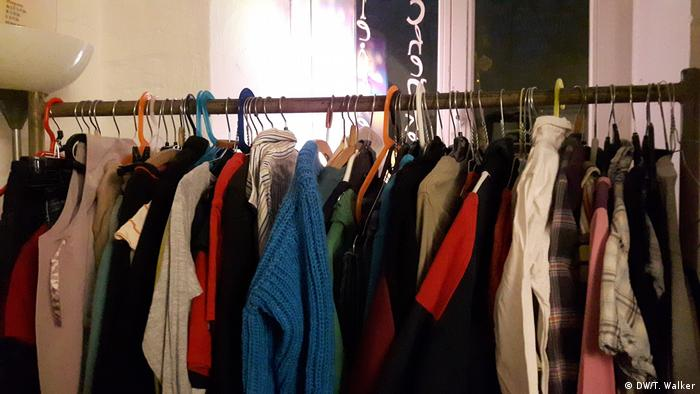 A rail of clothes