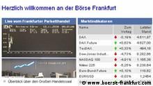 Screenshot Börse Frankfurt